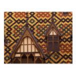 EU, France, Burgundy, Cote d'Or, Beaune. Tiled Post Card