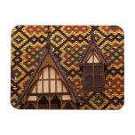 EU, France, Burgundy, Cote d'Or, Beaune. Tiled Rectangular Magnet