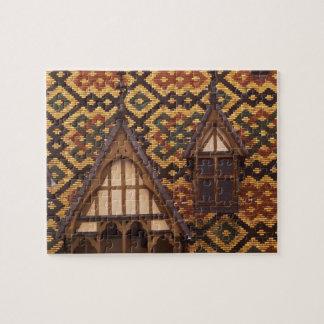 EU, France, Burgundy, Cote d'Or, Beaune. Tiled Puzzle