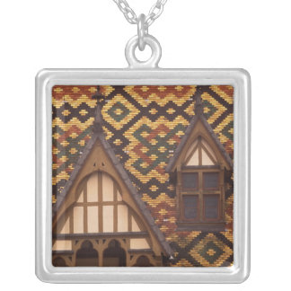 EU, France, Burgundy, Cote d'Or, Beaune. Tiled Silver Plated Necklace