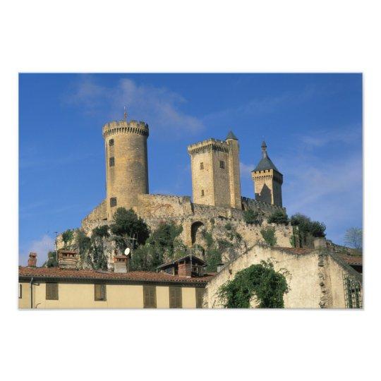 EU, France, Foix, Ariege, Pyrenees. Chateau Photo Print