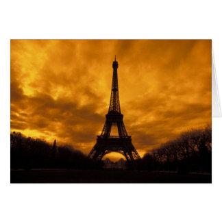 EU, France, Paris.  Eiffel Tower. Card