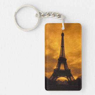 EU, France, Paris.  Eiffel Tower. Double-Sided Rectangular Acrylic Keychain