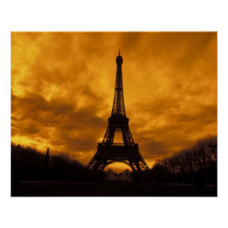 EU, France, Paris.  Eiffel Tower. Poster
