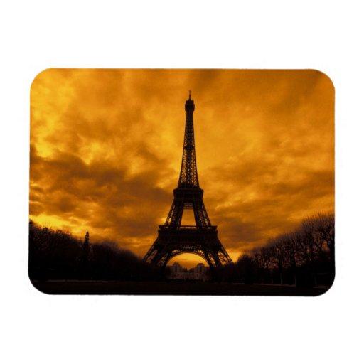 EU, France, Paris.  Eiffel Tower. Rectangular Magnet
