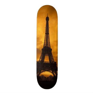EU, France, Paris.  Eiffel Tower. Skate Deck