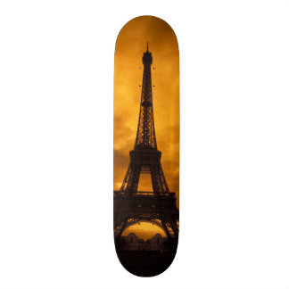 EU, France, Paris.  Eiffel Tower. Skateboard Deck