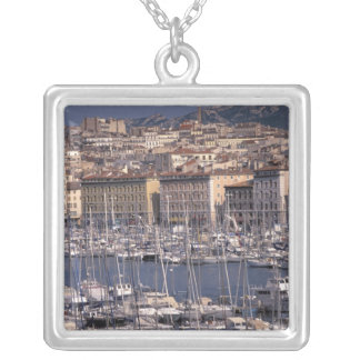 EU, France, Provence, Bouches, du, Rhone, 8 Silver Plated Necklace