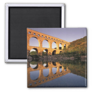 EU, France, Provence, Gard, Pont du Gard. 2 2 Inch Square Magnet
