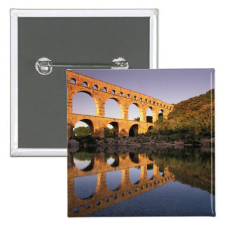 EU, France, Provence, Gard, Pont du Gard. 2 2 Inch Square Button