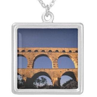 EU, France, Provence, Gard, Pont du Gard. Roman Silver Plated Necklace