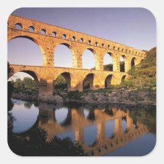 EU, France, Provence, Gard, Pont du Gard. Square Sticker