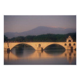 EU, France, Provence, Vaucluse, Avignon. Pont Poster