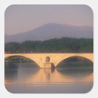EU, France, Provence, Vaucluse, Avignon. Pont Square Sticker