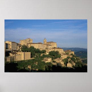 EU, France, Provence, Vaucluse, Gordes, Poster