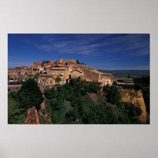 EU, France, Provence, Vaucluse, Roussillon. 4 Poster