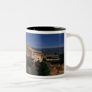 EU, France, Provence, Vaucluse, Roussillon. 4 Two-Tone Coffee Mug