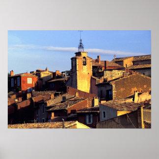EU, France, Provence, Vaucluse, Roussillon. Poster