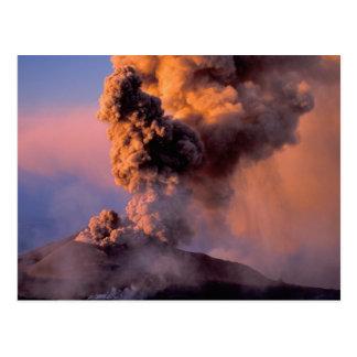 EU, Italy, Sicily, Mt. Etna summit vent Postcard