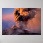 EU, Italy, Sicily, Mt. Etna summit vent Poster