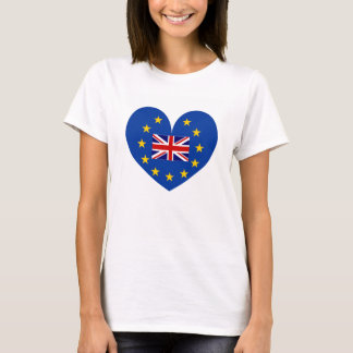 EU membership referendum anti brexit heart shirt