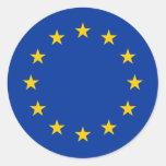 Eu redondo Europa de los pegatinas el | de la Pegatina Redonda