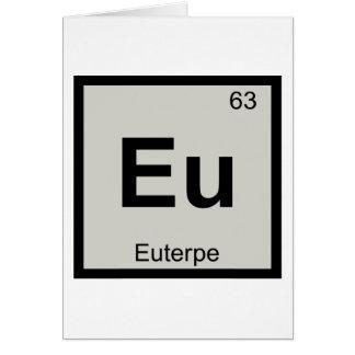Eu - símbolo de la tabla periódica de la química tarjeta de felicitación