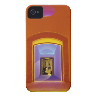EU, Spain, Barcelona. Lit doorway near Picasso Case-Mate iPhone 4 Case