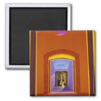 EU, Spain, Barcelona. Lit doorway near Picasso Refrigerator Magnets