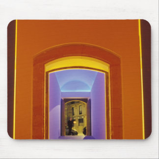 EU, Spain, Barcelona. Lit doorway near Picasso Mouse Pads