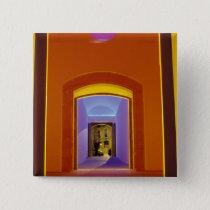 EU, Spain, Barcelona. Lit doorway near Picasso Pinback Button