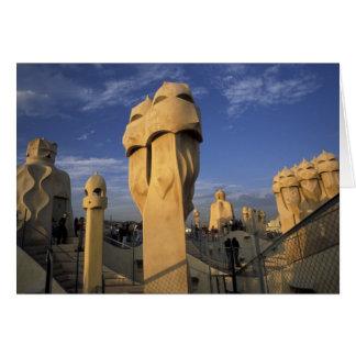 EU, Spain, Catalonia, Barcelona. Antonio Gaudi's Card