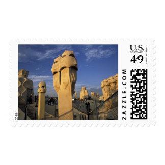 EU, Spain, Catalonia, Barcelona. Antonio Gaudi's Stamp