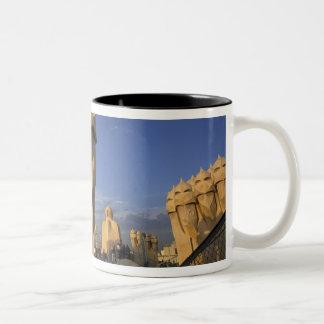 EU, Spain, Catalonia, Barcelona. Antonio Gaudi's Two-Tone Coffee Mug