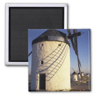 EU, Spain, Consuegro, La Mancha. Windmills and Magnet