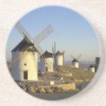 EU, Spain, La Mancha, Consuegra. Windmills and Drink Coaster