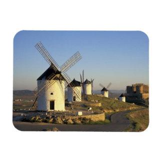EU, Spain, La Mancha, Consuegra. Windmills and Magnet