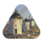 EU, Spain, La Mancha, Consuegra. Windmills and Bluetooth Speaker