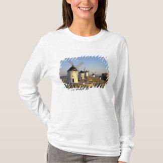EU, Spain, La Mancha, Consuegra. Windmills and T-Shirt