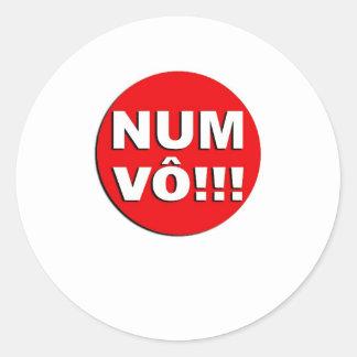 Eu Vo!! Classic Round Sticker