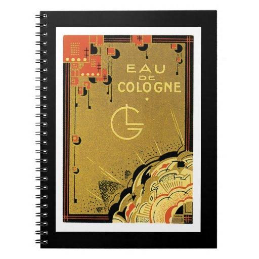 Eua De Cologne Spiral Notebook