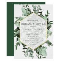 Eucalyptus and Greenery Watercolor Bridal Shower Invitation