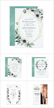 Eucalyptus Anemone Geometric Wedding