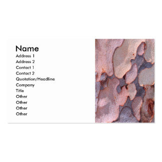 Eucalyptus Bark Business Card Templates