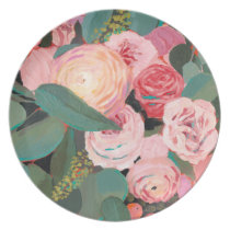 Eucalyptus Bouquet Dinner Plate