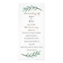 Eucalyptus Branch Wedding Program