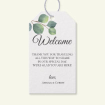 Eucalyptus Branches Wedding Welcome Bag Gift Tags