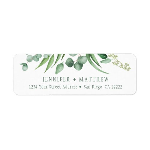 Eucalyptus Envy Botanical Return Address  Label
