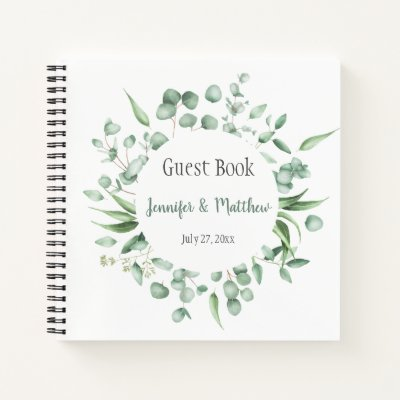 Eucalyptus Envy Botanical Wreath Guest Book