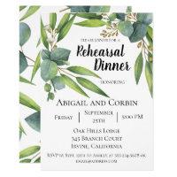 Eucalyptus Foliage Rehearsal Dinner Invitation